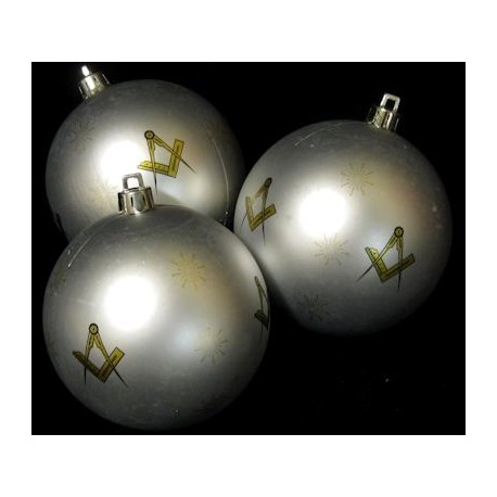 3 pk Christmas baubles