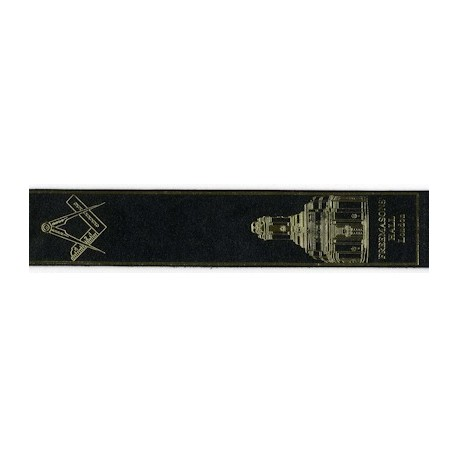Black Leather Masonic Bookmark