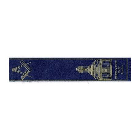 Blue Leather Masonic Bookmark
