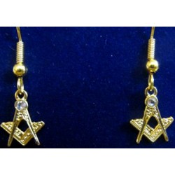 Square and Compasses Earrings