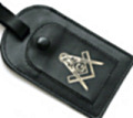 Leather Masonic Luggage Tag