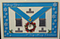 Masonic Apron Christmas card-OUT OF STOCK