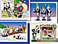 4pack Santa Christmas Cards