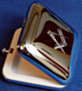Square silver plated pill box
